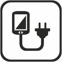 charge, communicator, device, electricity, mobile, phone, socket icon