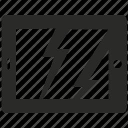 broken, device, display, repair, screen, tablet, tool icon