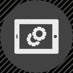 dislay, electronic, options, settings, tablet icon