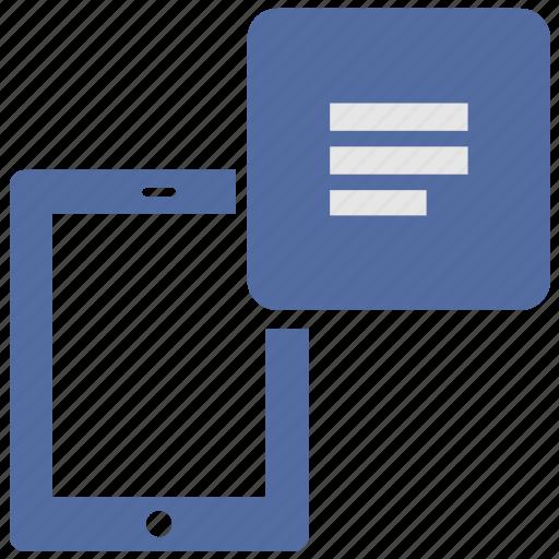 book, e, ebook, electronic, menu, reader, tablet icon