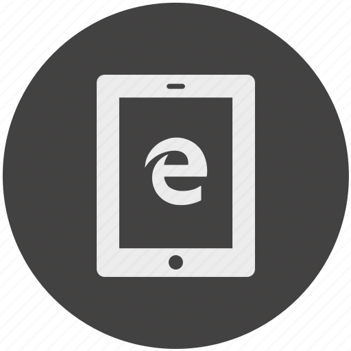 browser, communication, electronic, explorer, internet, tablet, windows icon