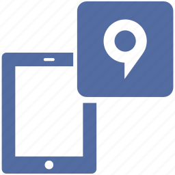 display, electronic, location, map, navigation, point, tablet icon