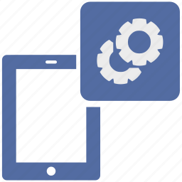 electronic, gear, options, setting, settings, tablet, tools icon