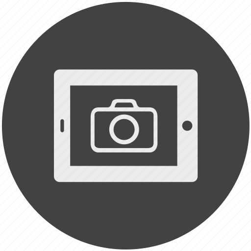 camera, diplay, electronic, photo, shot, tablet, video icon