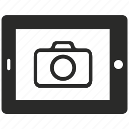 camera, diplay, electronic, gallery, shot, tablet icon