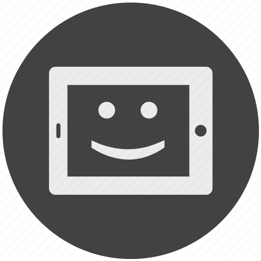 device, electronic, gadget, mobile, phone, smiley, tablet icon