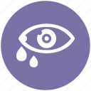 care, eye, eyesight, health, tear, teardrop, view icon