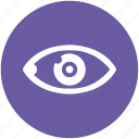 care, eye, left, preview, search, view, vision icon