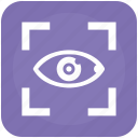 biometry, eye, frame, right, search, view icon
