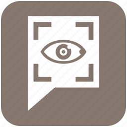 biometry, comment, eye, scanner, search, view icon