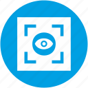 biometry, clinic, eye, frame, preview, scanner, view icon