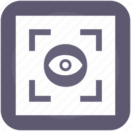 biometry, eye, frame, scanner, search, view icon
