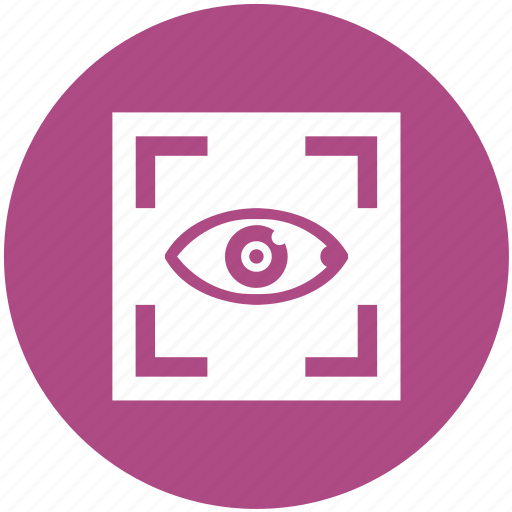 biometry, eye, frame, preview, scanner, search, view icon