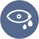 eye, look, search, tear, teardrop, view, vision icon