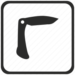 compact, fold, knife, swiss icon
