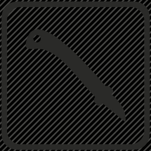 blade, kitchen, knife, sword, tool icon