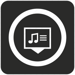audio, music, note, player, song, sound, text icon