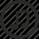 audio, multimedia, music, note, play, sound, volume icon