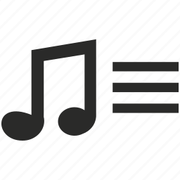audio, file, music, note, song, sound, text icon