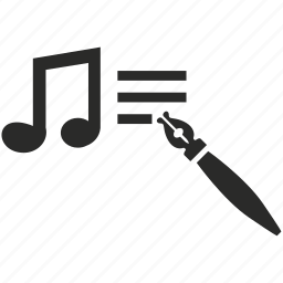 audio, edit, file, music, note, sound, text icon