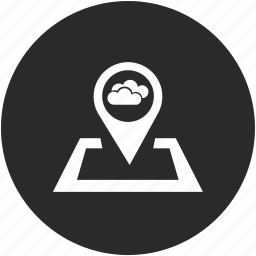 cloud, forecast, pointer, weather icon