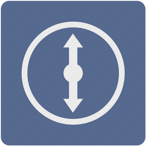 arrow, cursor, location, map, pointer, scroll, vertical icon
