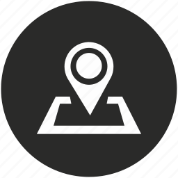 dot, map, marker, navigation, pin, place, pointer icon