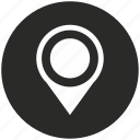 dot, location, map, navigation, pin, place, pointer icon