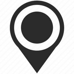 dot, location, map, night, place, pointer icon