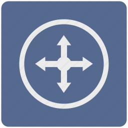 arrow, direction, drag, drop, location, map, pointer icon