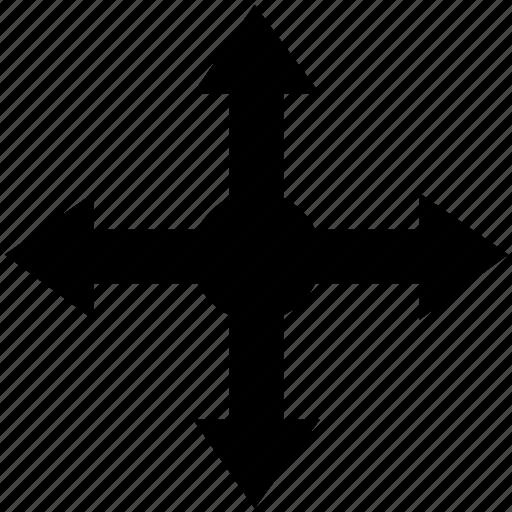 arrow, direction, drag, drop, location, pointer icon