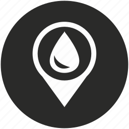 drop, map, navigation, pin, place, pointer, water icon