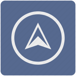 arrow, car, location, map, navigation, pin, pointer icon