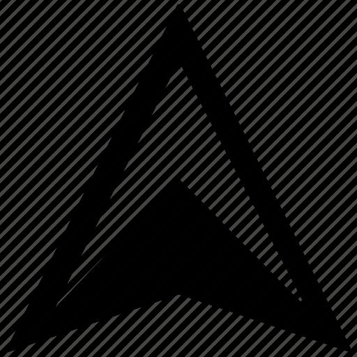arrow, car, location, pointer, up icon