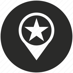 location, map, navigation, place, point, pointer, star icon