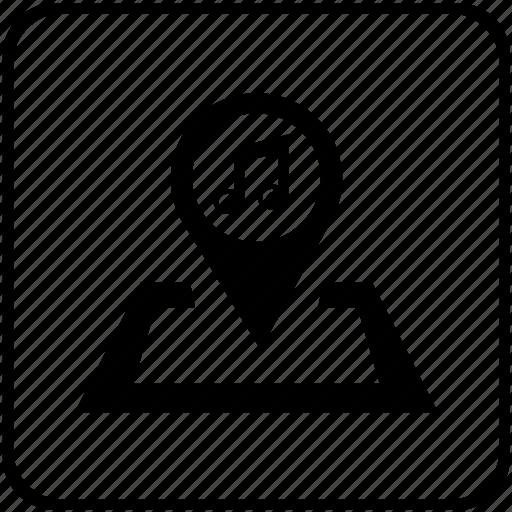 audio, music, note, pointer, sound, speaker, volume icon