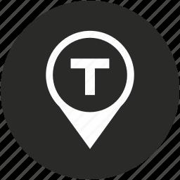 car, map, navigation, pointer, taxi, transport, transportation icon