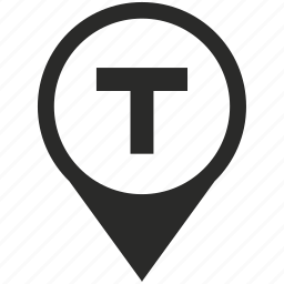 car, place, pointer, t, taxi, transport, vehicle icon