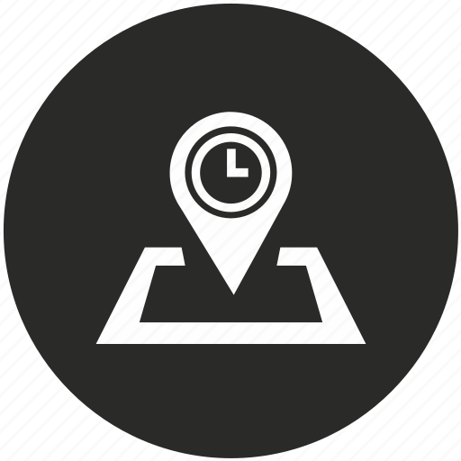 clock, navigation, pointer, time, timer, watch icon