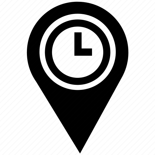 clock, gps, map, pointer, time, timer, watch icon