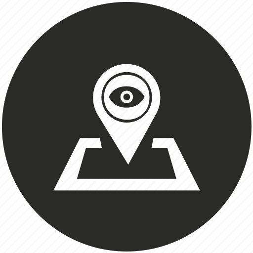 location, map, navigation, panorama, pointer, view icon