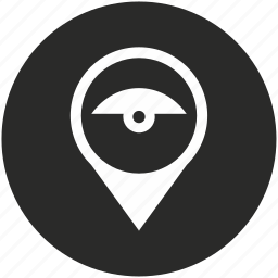 camera, map, navigation, place, pointer, security, view icon