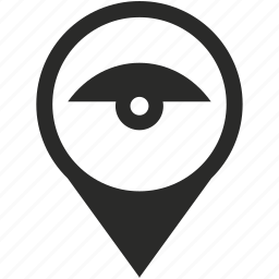 camera, location, map, place, pointer, security, view icon