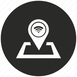 access, internet, location, navigation, pointer, wifi icon