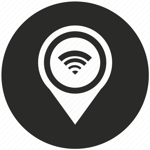 access, map, navigation, place, pointer, signal, wifi icon