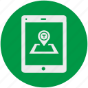 dot, gps, location, map, navigation, point, smartphone icon