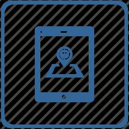 dot, location, locator, point, smartphone, taxi icon
