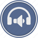 audio, device, functions, head, headphones, listen, speakers icon