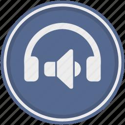 audio, device, functions, head, headphones, listen, speakers icon