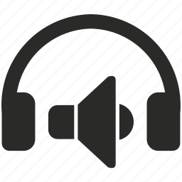 device, functions, headphones, listen, music, smartphone, speakers icon